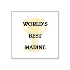 "MARINE Square Sticker 3"" x 3"""