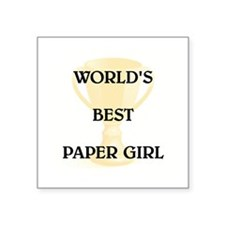 "PAPER GIRL Square Sticker 3"" x 3"""