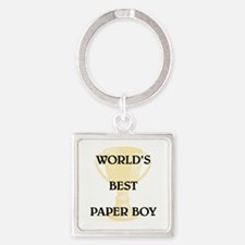 PAPER BOY Square Keychain