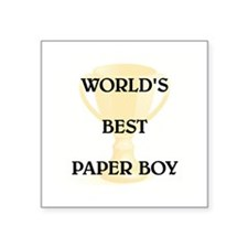 "PAPER BOY Square Sticker 3"" x 3"""