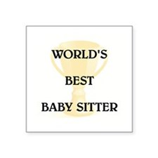"BABY SITTER Square Sticker 3"" x 3"""