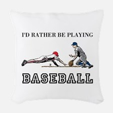 Baseball Woven Throw Pillow