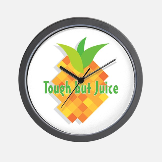 Tough But Juice Wall Clock
