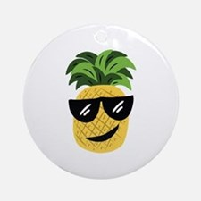 Funky Pineapple Ornament (Round)