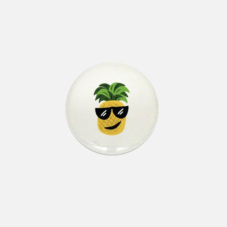 Funky Pineapple Mini Button