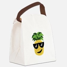 Funky Pineapple Canvas Lunch Bag