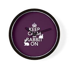 Keep Calm and Rabbit On Wall Clock