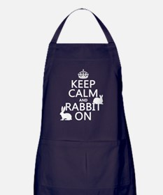 Keep Calm and Rabbit On Apron (dark)