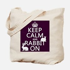 Keep Calm and Rabbit On Tote Bag