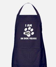 55th Birthday Dog Years Apron (dark)