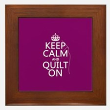 Keep Calm and Quilt On Framed Tile