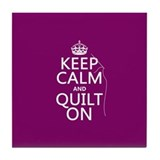 Keep calm and quilt on Drink Coasters