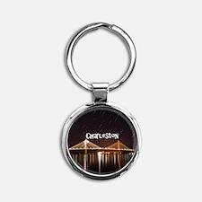 Charleston Round Keychain