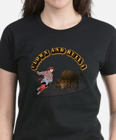 Clown and Bull 1-With-Text Tee