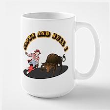 Clown and Bull 1-With-Text Mug