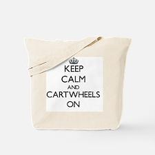 Keep Calm and Cartwheels ON Tote Bag