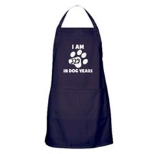 47th Birthday Dog Years Apron (dark)