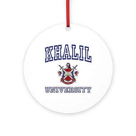 KHALIL University Ornament (Round)