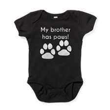 My Brother Has Paws Baby Bodysuit