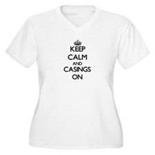 Keep Calm and Casings ON Plus Size T-Shirt