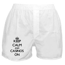 Keep Calm and Casinos ON Boxer Shorts
