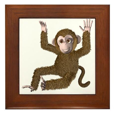 Monkey! Monkey! Framed Tile