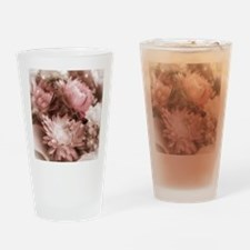 Antique Strawflowers Drinking Glass