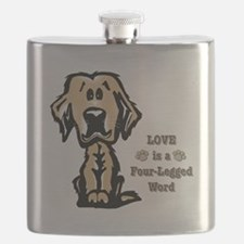 Love is a Four Legged Word Flask