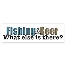 Fishing & Beer Bumper Bumper Sticker