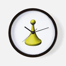 Meeplehut Pawn Yellow Wall Clock