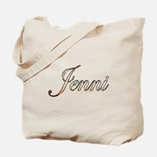 Gold Jenni Tote Bag