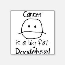 """Cute Cancer Square Sticker 3"""" x 3"""""""