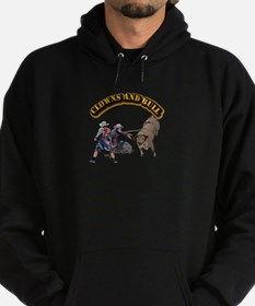 Clowns and Bull-2 with Text Hoodie