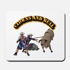 Clowns and Bull-2 with Text Mousepad