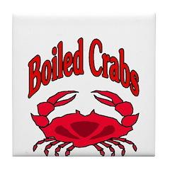Boiled Crabs Tile Coaster