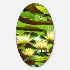 Yellow Water Lilies Decal