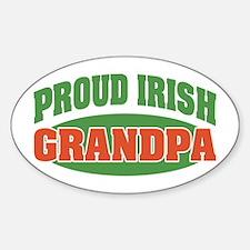 Proud Irish Grandpa Oval Decal