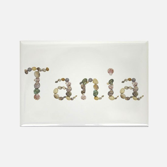 Tania Seashells Rectangle Magnet