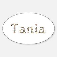 Tania Seashells Oval Decal