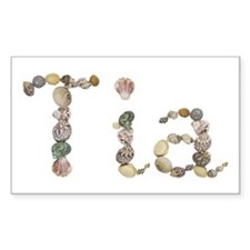 Tia Seashells Rectangle Decal