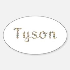 Tyson Seashells Oval Decal