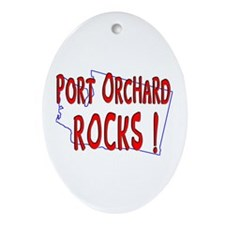 Port Orchard Rocks ! Oval Ornament