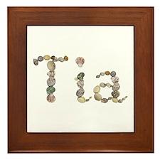 Tia Seashells Framed Tile