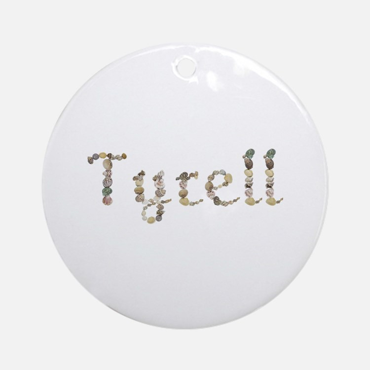Tyrell Seashells Round Ornament