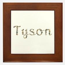 Tyson Seashells Framed Tile