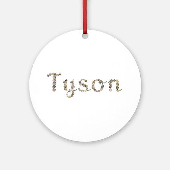 Tyson Seashells Round Ornament