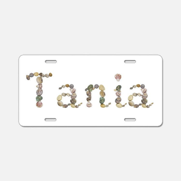 Tania Seashells Aluminum License Plate
