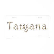 Tatyana Seashells Aluminum License Plate