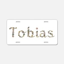 Tobias Seashells Aluminum License Plate