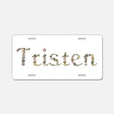Tristen Seashells Aluminum License Plate